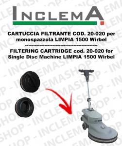 LIMPIA 1500 CARTUCCIA FILTRANTE 20-020 for monospazzola WIRBEL