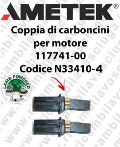 COPPIA di CARBONCINI Vacuum Motor N33410-4 for motore LAMB AMETEK