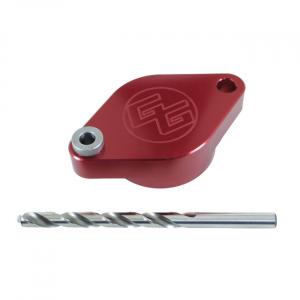 George's Garage, exhaust stud drill jig; 84-19 B.T.; 86-19 XL; 08-12(NU)XR1200; 87-10(NU)Buell XB