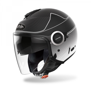 CASCO JET MOTO AIROH HELIOS MAP BLACK MATT 2020 HEM35