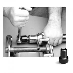 JIMS, 41mm fork nut socket; 49-84(NU)FL; 80-86(NU)FXWG; 80-83 and 00-13(NU)Touring; 93-05(NU)FXDWG; 84-17(NU)Softail (excl. 13-17 FXSB Breakout)