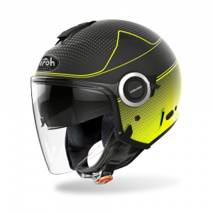CASCO JET MOTO AIROH HELIOS MAP YELLOW MATT 2020 HEM31