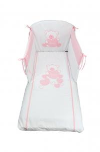 NUOVA COLLEZIONE 2019/2020 Completo piumone lettino Baby Bear rosa