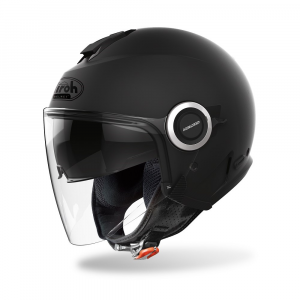 CASCO JET MOTO AIROH HELIOS COLOR BLACK MATT 2020 HE11