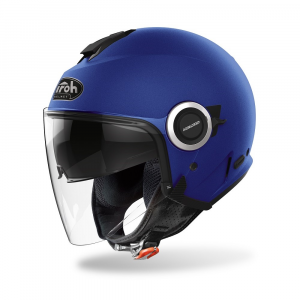 CASCO JET MOTO AIROH HELIOS COLOR BLUE MATT 2020 HE19