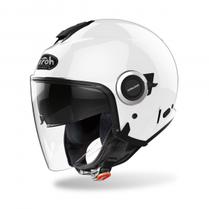 CASCO JET MOTO AIROH HELIOS COLOR WHITE GLOSS 2020 HE14
