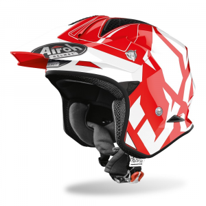 CASCO JET MOTO AIROH TRR-S CONVERT RED GLOSS 2020 TRRSC18