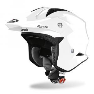 CASCO JET MOTO AIROH TRR-S COLOR WHITE GLOSS 2020 TRRS14