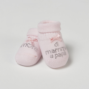Scarpina cotone amore di mamma e papà - femminuccia