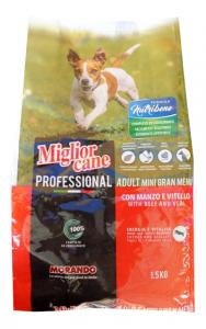Crocchetta Miglior Cane Adult Mini Gran menù (manzo e vitello) kg.1.5