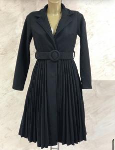 Cappotto plissé con cintura
