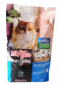 Crocchetta Miglior gatto Adult Steril kg.1.5 gusto pollo/vitello