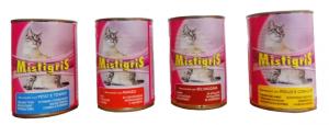 Bocconcini barattolo Mistigris gatto gr.405 diversi gusti
