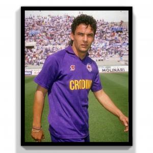 1988-89 Fiorentina Maglia R. Baggio #10 XL (Top)