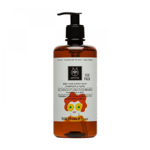 Apivita Kids Hair And Body Wash Honey And Tangerine 500ml