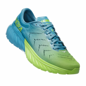 Hoka one one Mach 2 storm blue/lime green