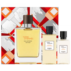 Terre d'Hermès Eau Intense Vétiver Eau De Parfum Spray 100ml Set 3 Parti 2019