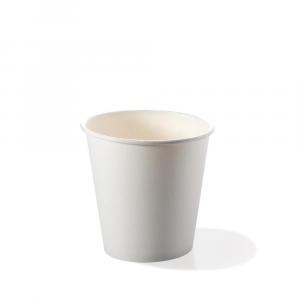 Bicchieri biodegradabili cartoncino 120 ml caffè espresso bianchi