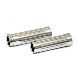 ALUMINUM GRIPS, SATIN GROOVED