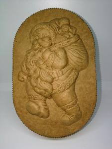 SCATOLA CARTONE BABBO NATALE - 23 x 14 cm - altezza 6 cm