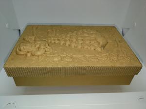 SCATOLA CARTONE  RETT. ABETE E OCHE 23,5 X 15,5 cm - ALTEZZA 6 cm