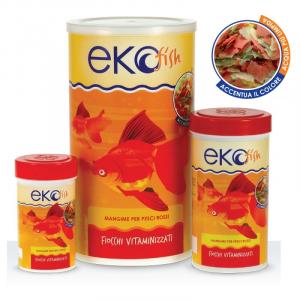 Alimento in fiocchi per pesci rossi Ekofish gr.20/50/200