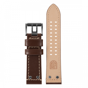 Cinturino Luminox in pelle marrone - 26mm
