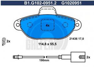 Serie pastiglie anteriori Fiat 500 (312), Ford Ka,GALFER, 77365816,