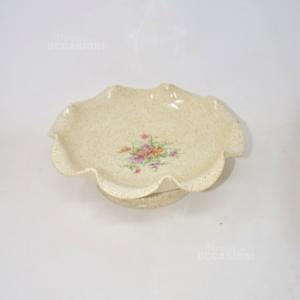 Alzatina In Ceramica Disegno Fiori
