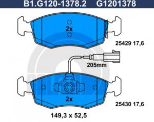 Serie pastiglie anteriori Fiat 500 (312), Punto (199), GALFER, 77366537, 77366538,
