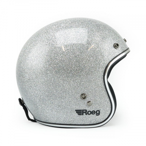Roeg JETT helmet Disco ball silver size M