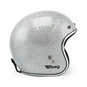 Roeg JETT helmet Disco ball silver size XL