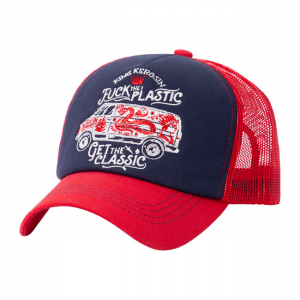 King Kerosin F*ck The Plastic cap red/blue;