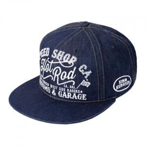 King Kerosin Hot Rod cap denim blue;