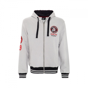 King Kerosin Angry Hawks zip hoodie grey; MALE EU SIZE S