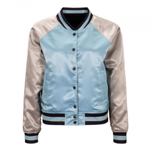 Queen Kerosin satin jacket turquoise/antique white ; FEMALE EU SIZE L