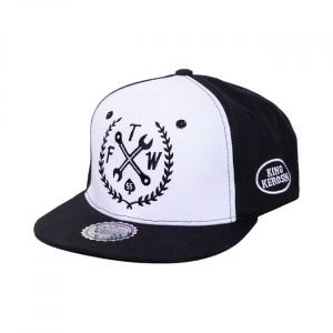 King Kerosin FTW snapback cap black/white; SIZE L/XL