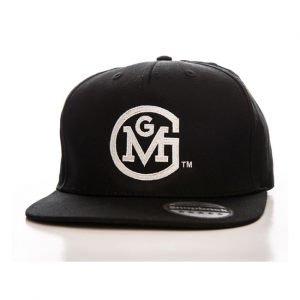 GMG Round logo snapback cap black