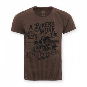 KING KEROSIN BIKER'S WORK T-SHIRT; MALE SLIMFIT EU SIZE S