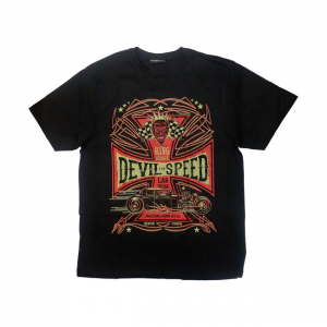 KING KEROSIN DEVIL SPEED T-SHIRT BLACK; MALE EU SIZE S