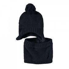 Set berretto+scaldacollo in maglia Mek