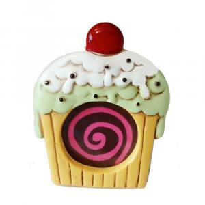 Cornice portafoto Cupcake in resina decorata