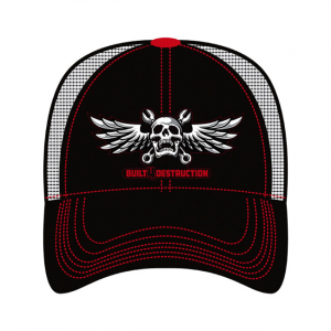 LETHAL THREAT, MEN'S TRUCKER HAT BUILETHAL THREAT 4 DESTRUCTION; One size fits most