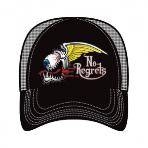 LETHAL THREAT, MEN'S TRUCKER HAT NO REGRETS; One size fits most