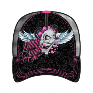 LETHAL THREAT, GIRL SKULL TRUCKER CAP; One size fits most