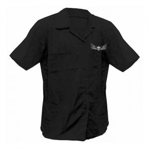 LETHAL THREAT Destroy Skull work shirt black; Male US size L