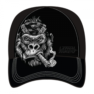 LETHAL THREAT Gorilla Cigar cap black; One size fits most