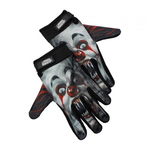 LETHAL THREAT Killer Clown gloves black; Male size XL