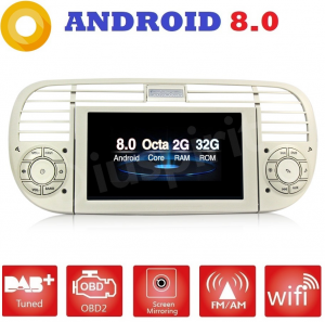 ANDROID autoradio navigatore per Fiat 500 Fiat Abarth 500 2007-2015 GPS DVD WI-FI Bluetooth MirrorLink