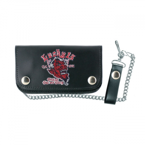 Lucky 13 Grease, Gas and Glory leather patch wallet